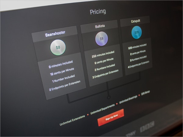 UI Pricing Table Design
