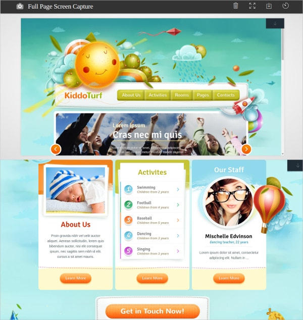 Kids Activities WordPress Theme