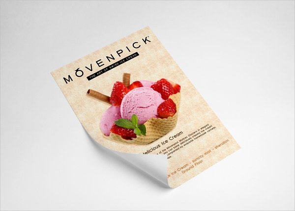 Ice Cream Advertising Flyer
