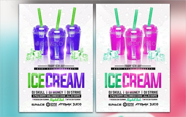 Ice Cream Summer Flyer