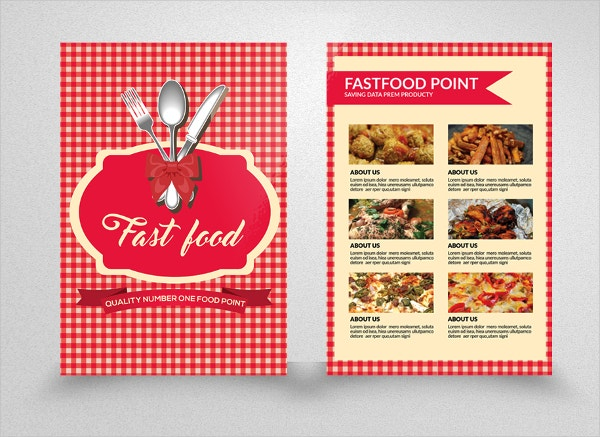 Double Sided Fast Food Burger Flyer