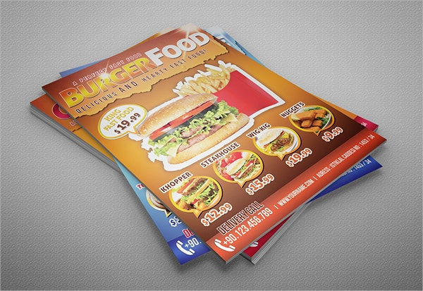 Fast Food 3x Flyers