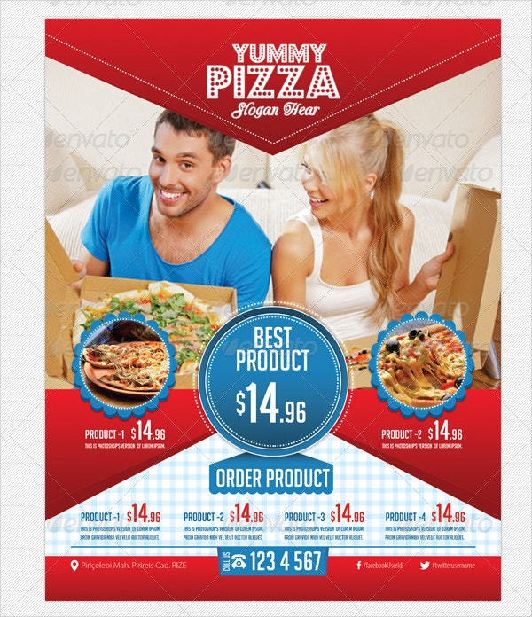 Pizza and Fast Food Flyer