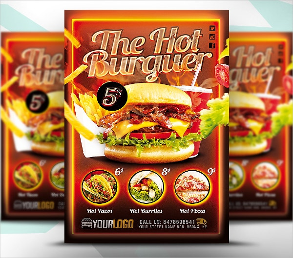 18 Fast Food Flyer Templates Free Psd Ai Vector Eps
