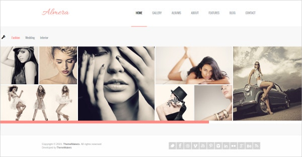 modern art gallery website template