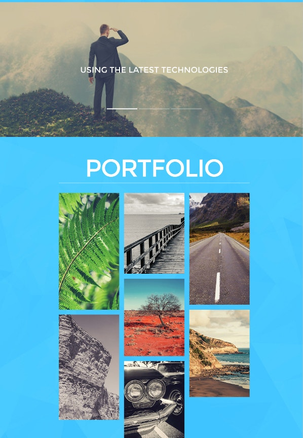 art portfolio website template1