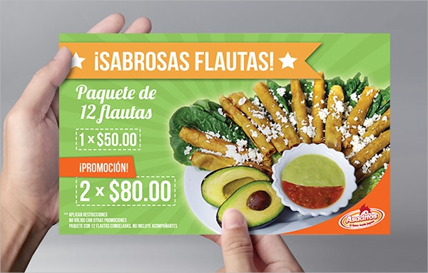 Asaditos Fast Food Flyer