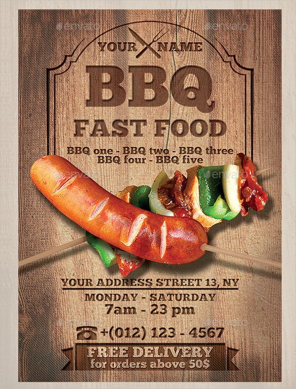 BBQ / Fast Food Flyer