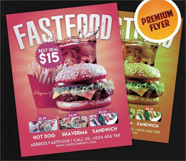 Best Fast Food Flyer PSD Template