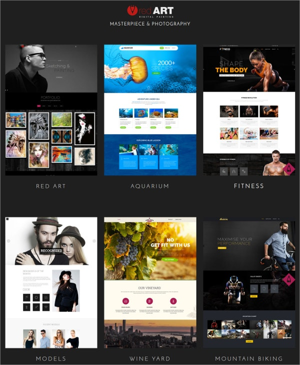 Artist Gallery Website Template
