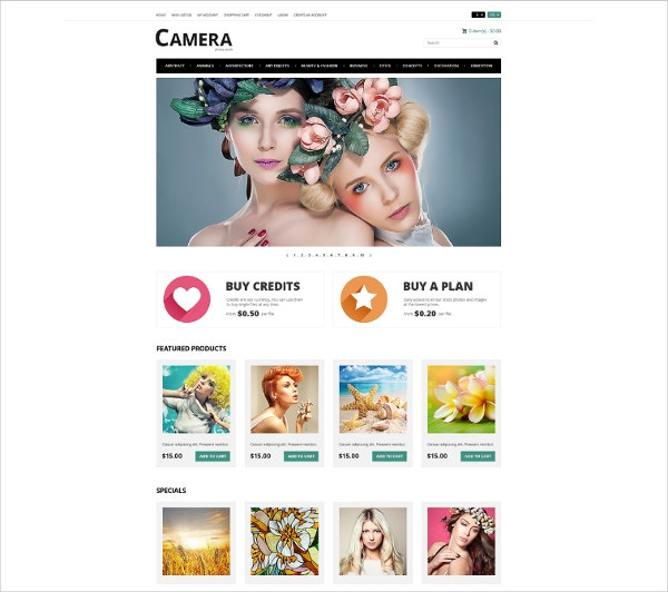 Art Photography Opencart Website Theme