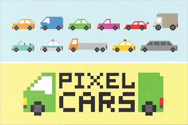 pixel cars set