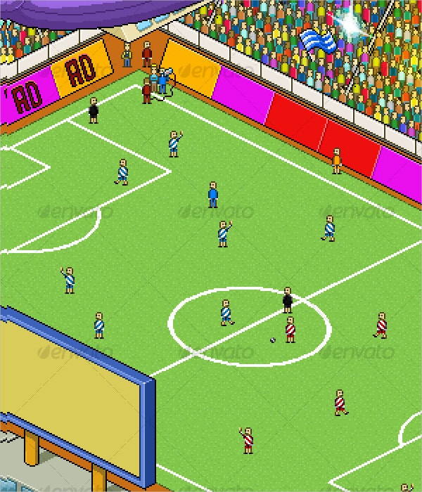 pixel art football stadium