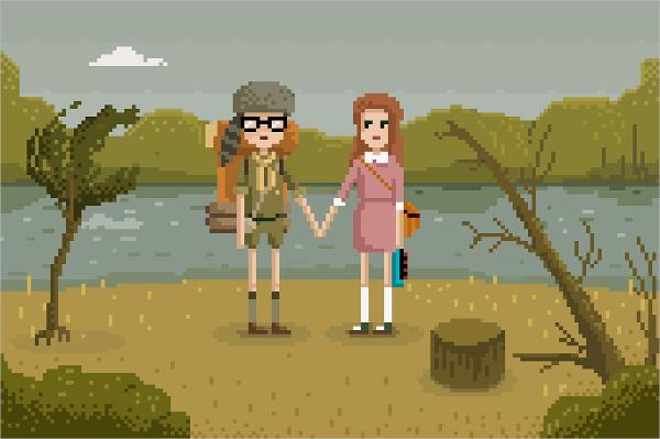 Duos Pixelated Art