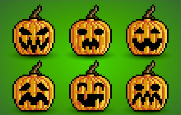 Pixel Pumpkins Art