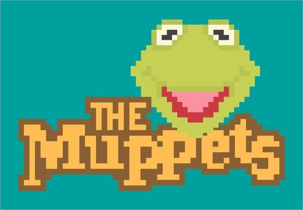Pixel Kermit The Frog Art