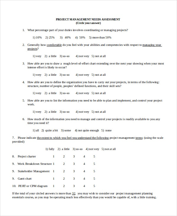 Project Assessment Template - 8+ Free Word, Pdf Document Downloads