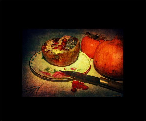 pomegranate still life photography
