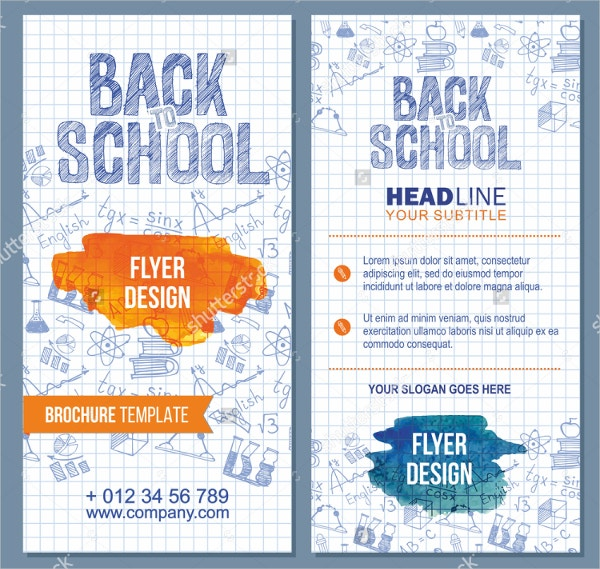 School Flyer Template Free PSD AI Vector EPS Format - School brochure template free