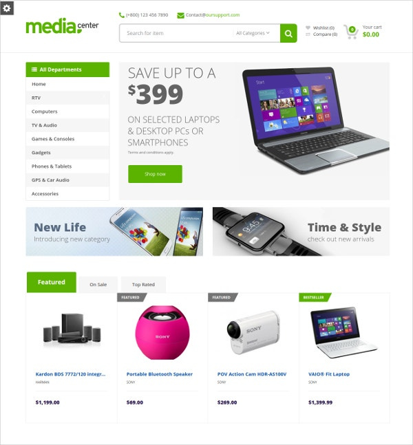 multipurpose store drupal theme