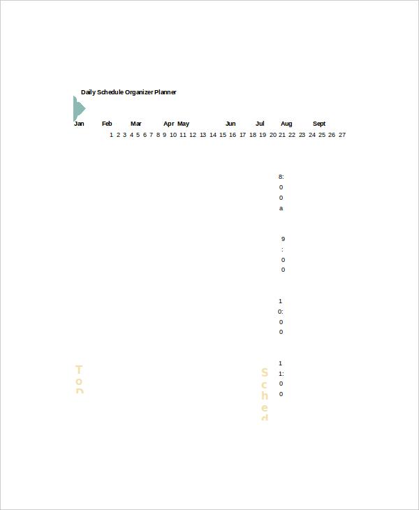 daily schedule organizer planner template1