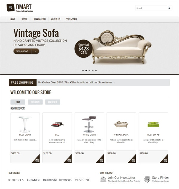 Classic Style Store Drupal Theme