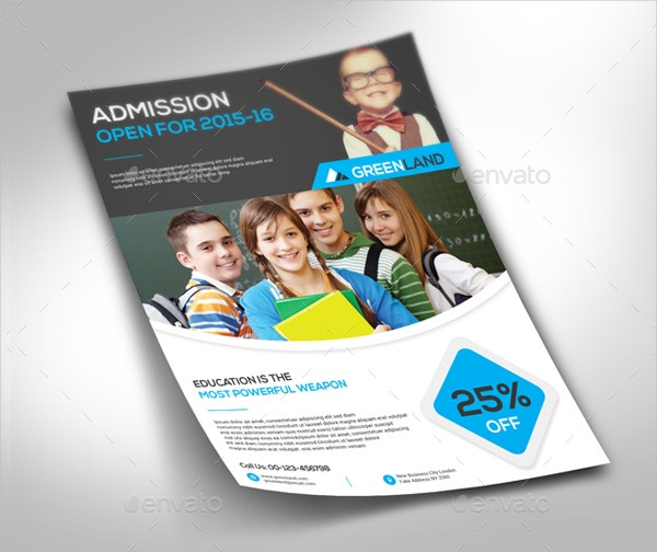 School Flyer Template Free PSD AI Vector EPS Format - High school brochure template