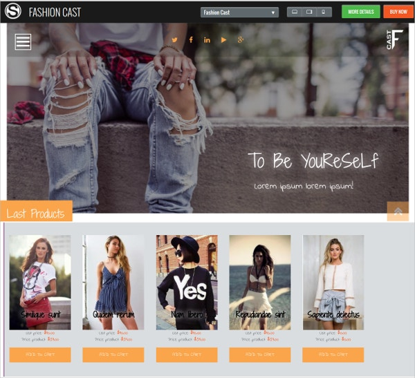 fashion clothing store drupal theme