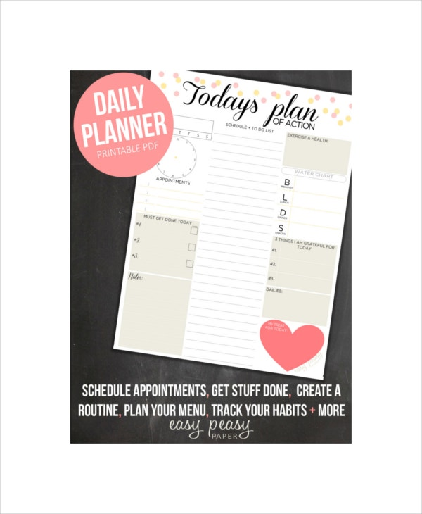 daily organizer planner for adult