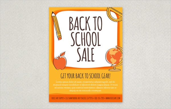 Awesome Back To School Flyer Template Images - Best Resume