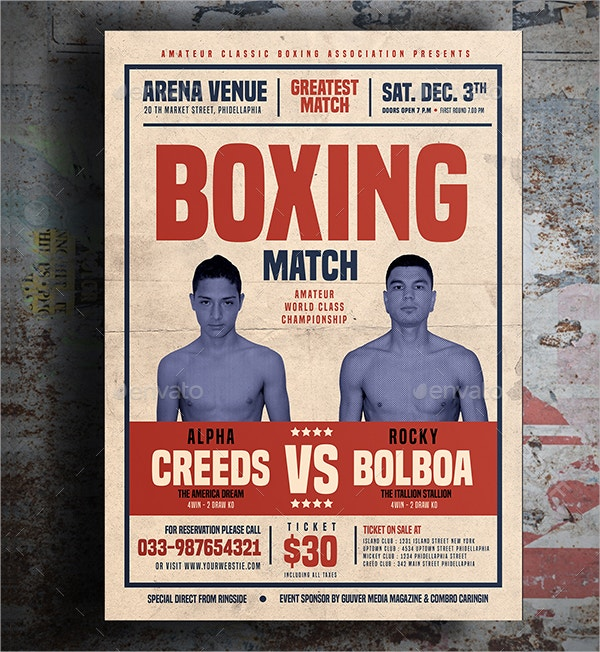 22+ Boxing Flyer Template - Free PSD, AI, Vector, EPS Format ...