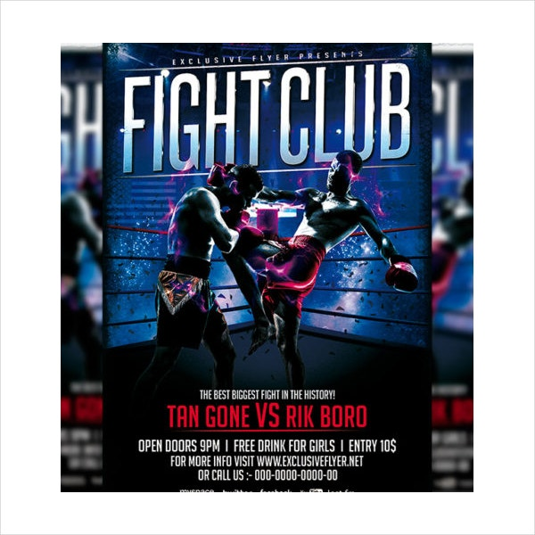 Fight Club Premium Flyer