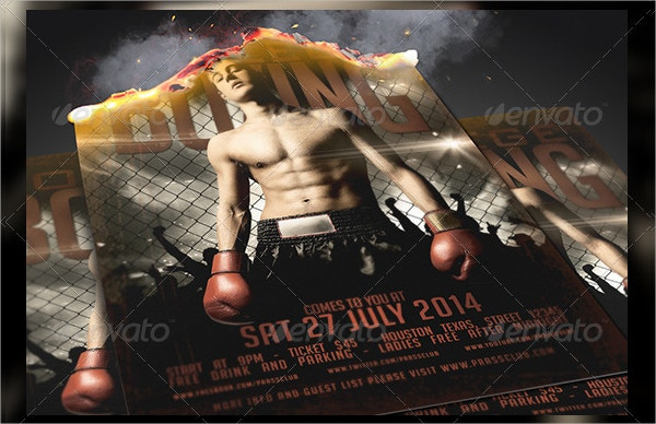 Stunning Boxing Flyer Template Gallery  Example Resume Ideas