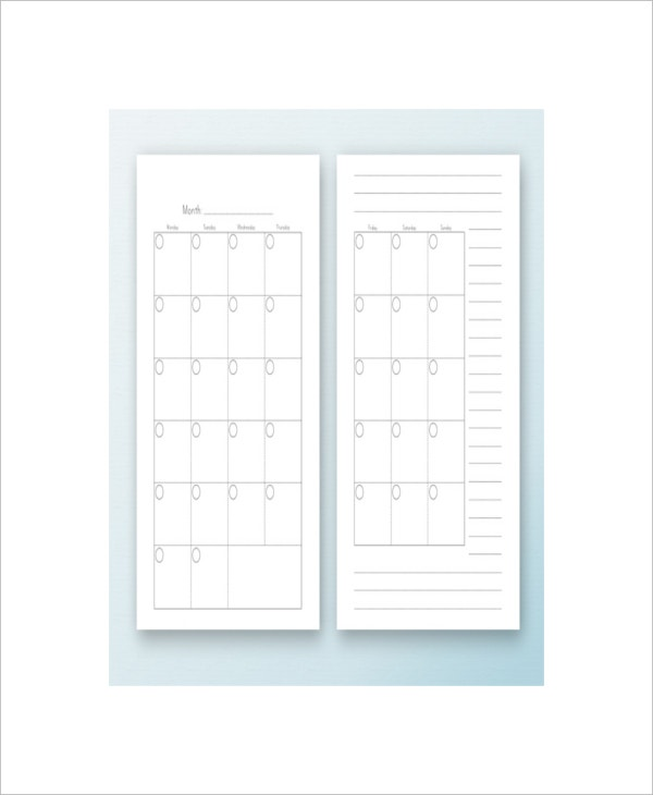 monthly daily schedule planner template