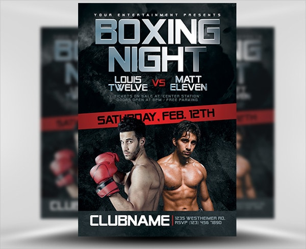 Kick Boxing Flyer Template