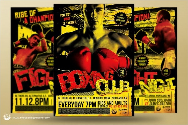 Boxing Championship Flyer