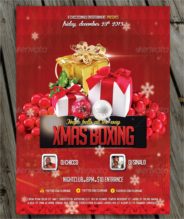 Christmas Boxing Flyer Template