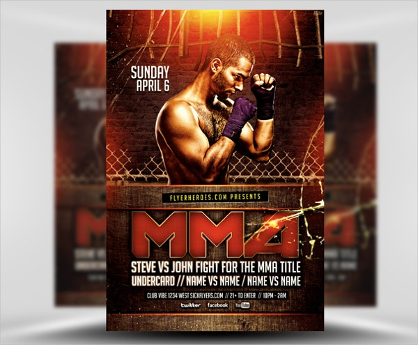 Grimy MMA Flyer Template