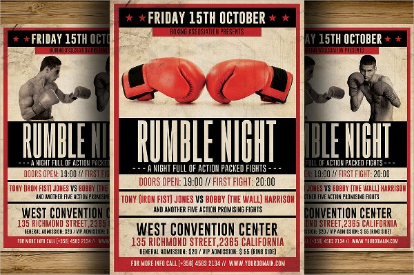 Boxing Flyer Templates  Free Psd Ai Vector Eps Format