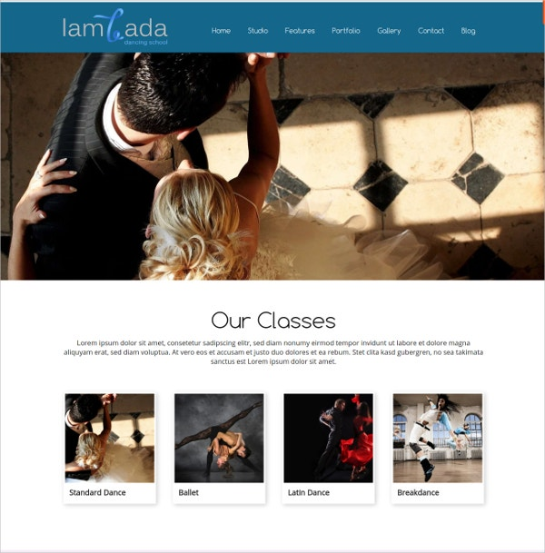 wordpress theme for dance studios dance schools website theme