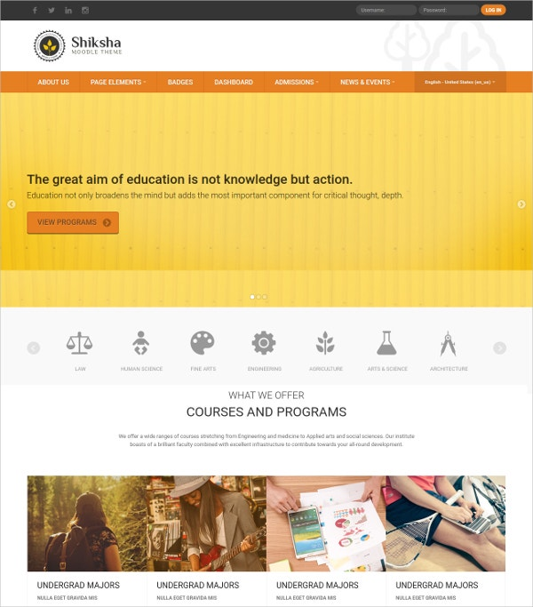 Online Education Responsive Moodle Theme $44