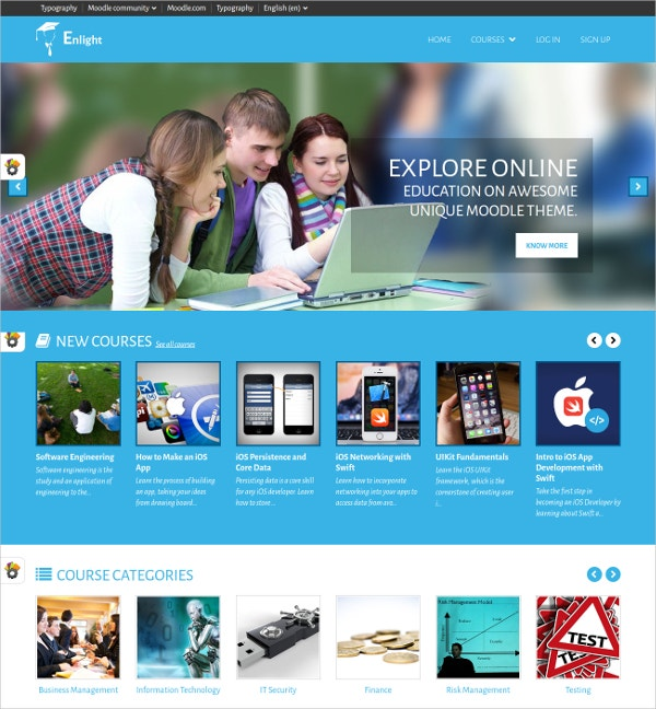Multipurpose Free Responsive Moodle Theme