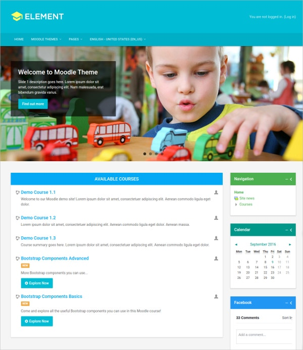 Responsive Schools & Colleges Moodle Theme