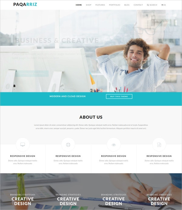 Responsive Business Agencies Moodle Template $48