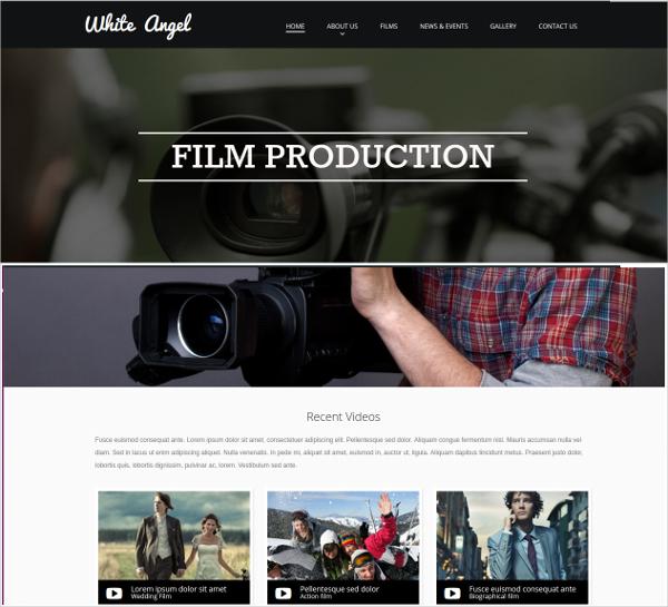 Film Production Studio Studio Website Theme