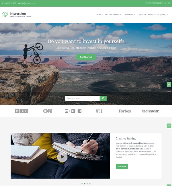 Online Learning Responsive Moodle Bootstrap Theme