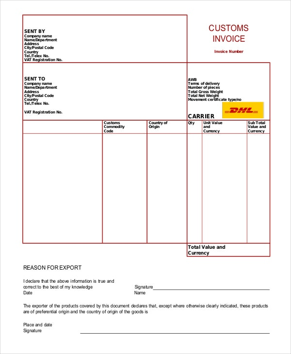 Invoice Template Free Word PDF Document Downloads Free - Free customer invoice