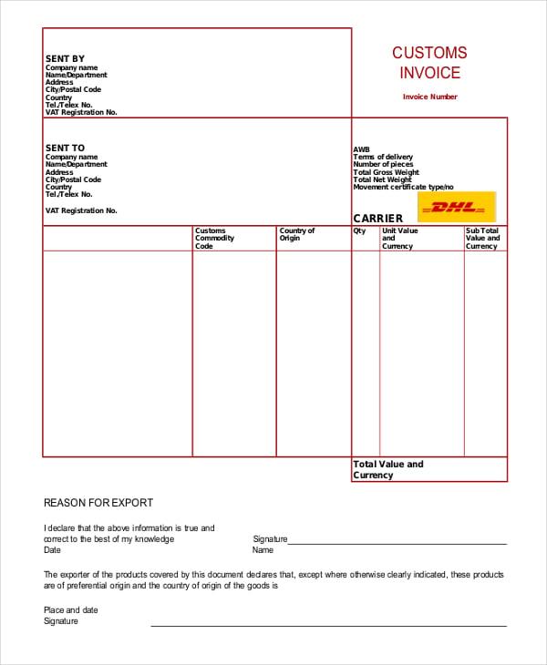 Free Customer Invoice Template Datariouruguay