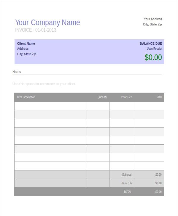 Business Invoice Templates Trattorialeondoro - Company invoice example
