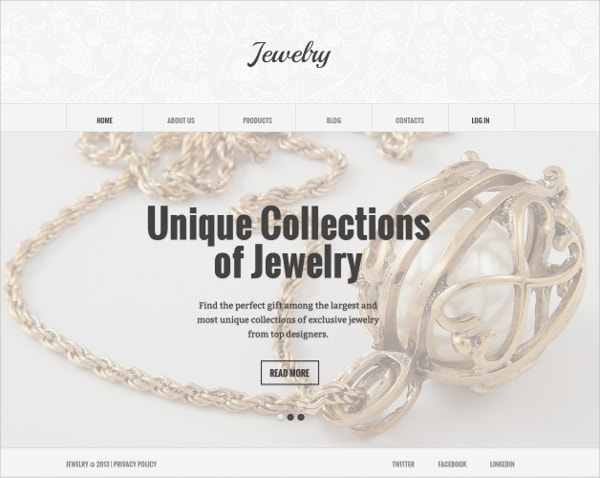 Unique Collection Jewelry Joomla Website Template $75